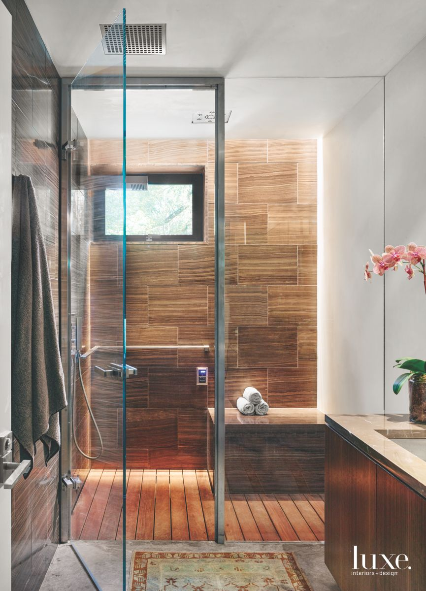Luxurious Custom Touches In Modern San Antonio Guest Bathroom