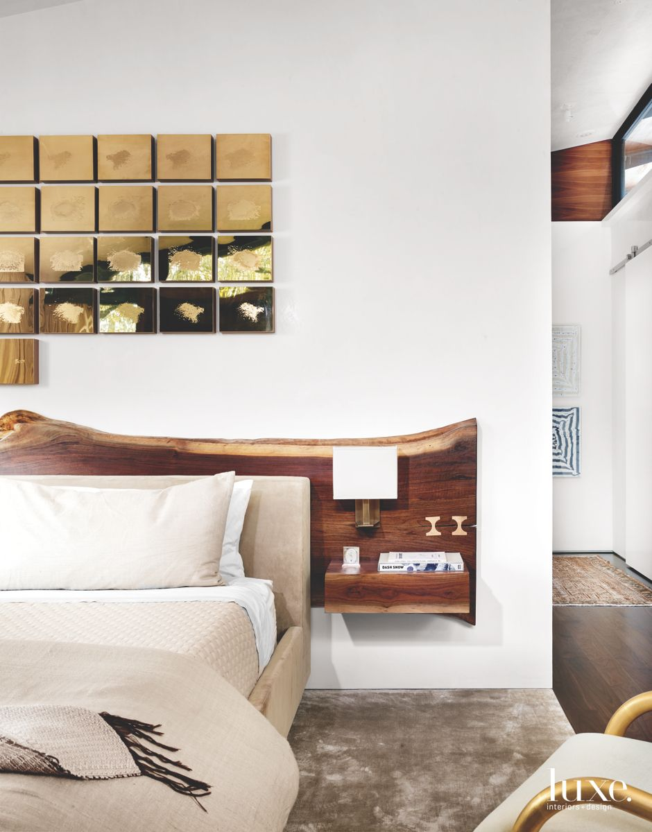 Modern San Antonio Master Bedroom Infused with Natural, Custom Touches