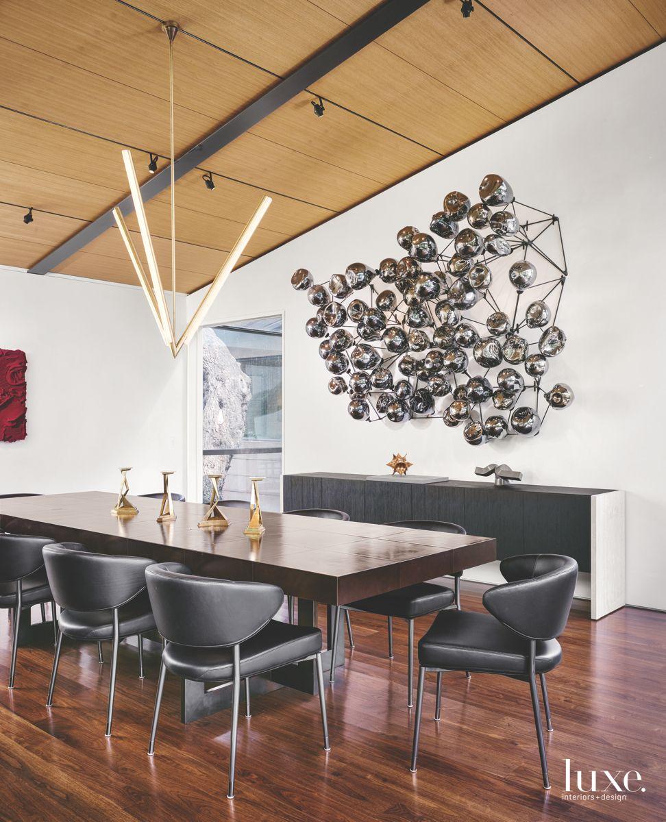 Modern San Antonio Dining Room With a Vintage Vibe