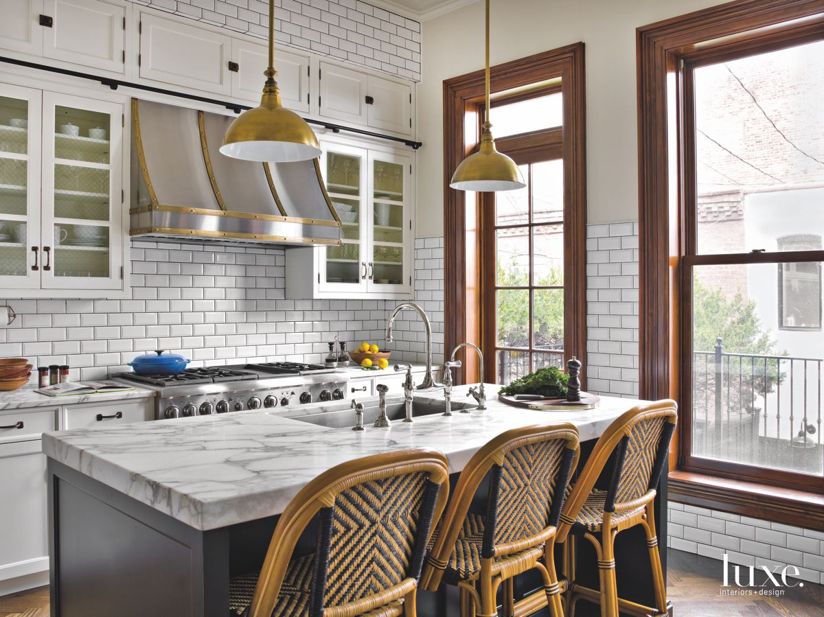 Thoughtful Architectural Details Give Modern Chicago Kitchen A Pre-War Feel