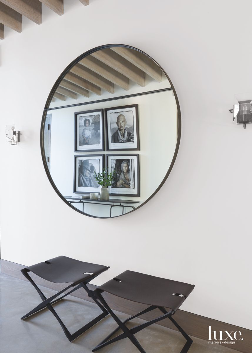 Southampton Foyer With Large Custom Mirror