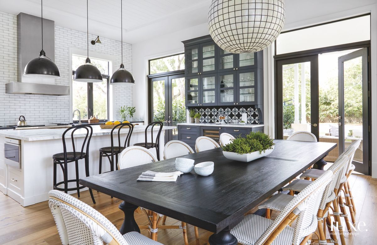 Custom Cement Tile Adds Character to Modern Miami Kitchen-Dining Room