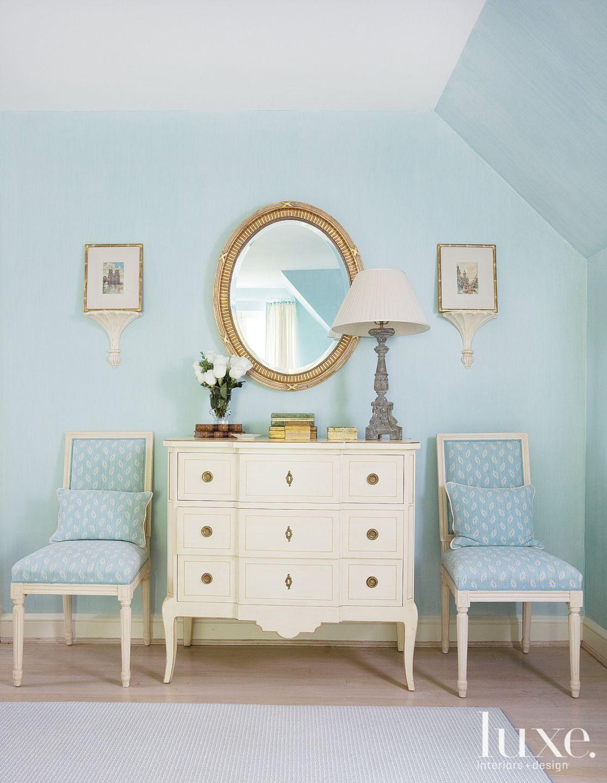 Traditional Blue Master Bedroom Vignette
