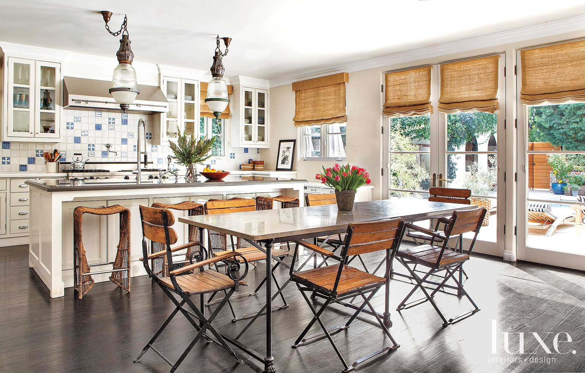Eclectic White Rustic Kitchen
