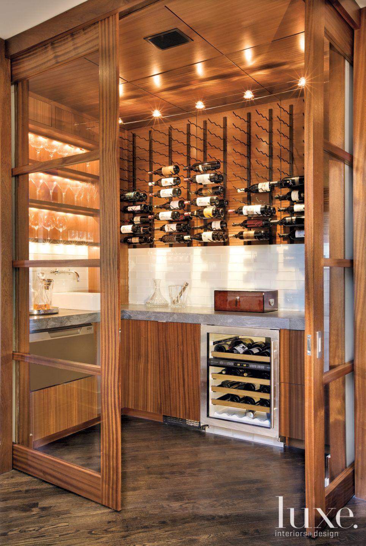 Modern Sapele Wine Room