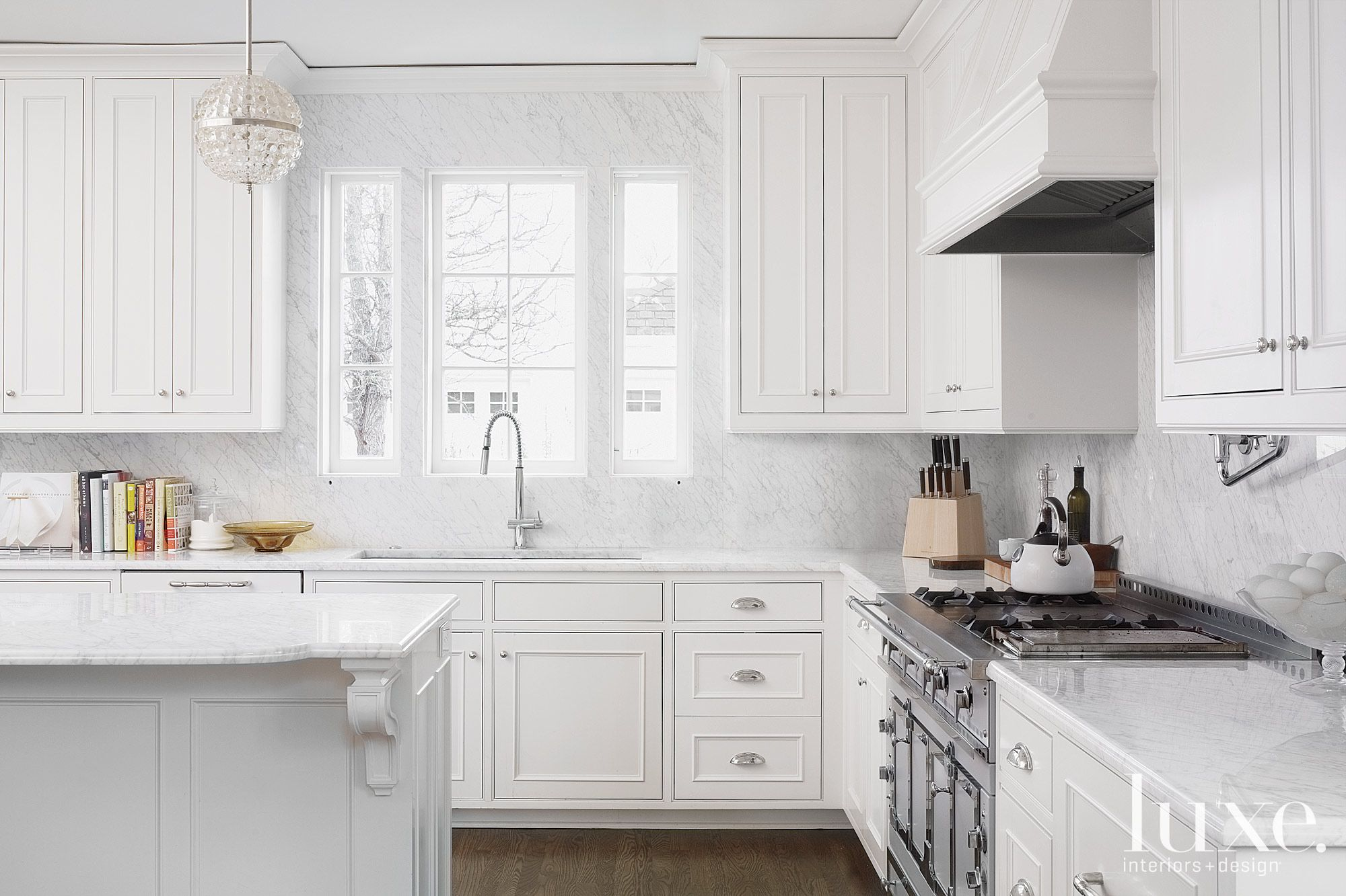 Classical French White Kitchen