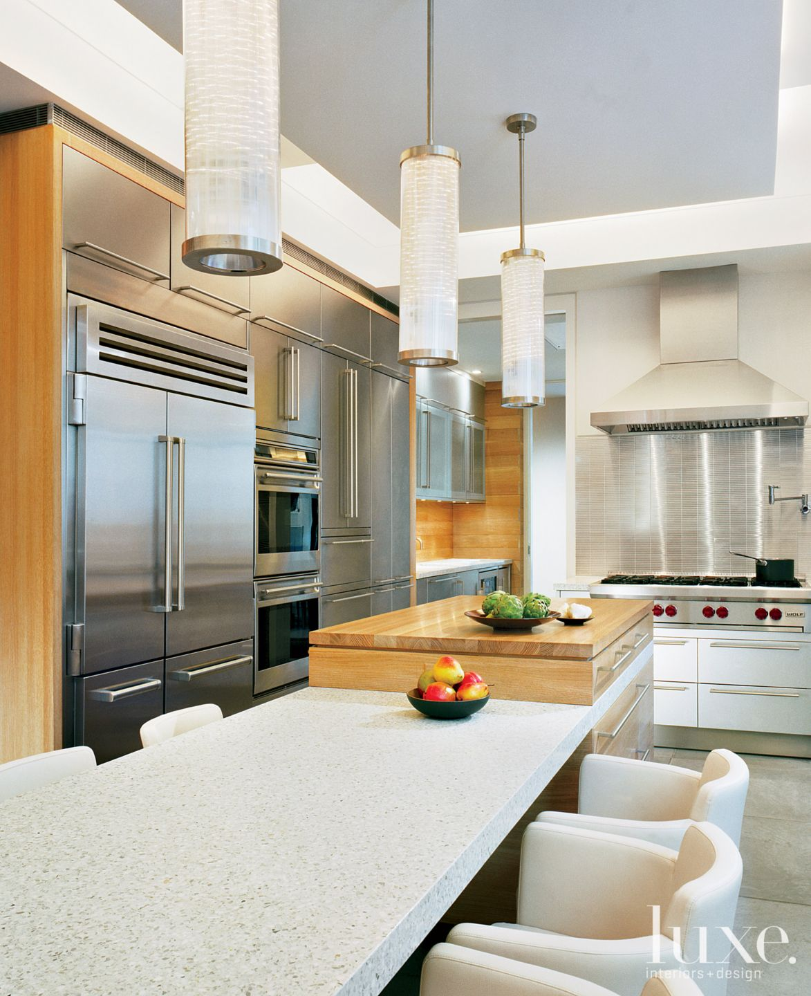 Modern Neutral Kitchen with Terrazzo Table