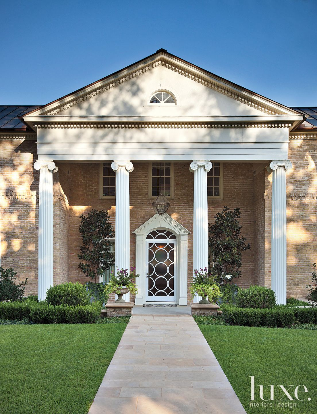 Traditional Columned Front Exterior