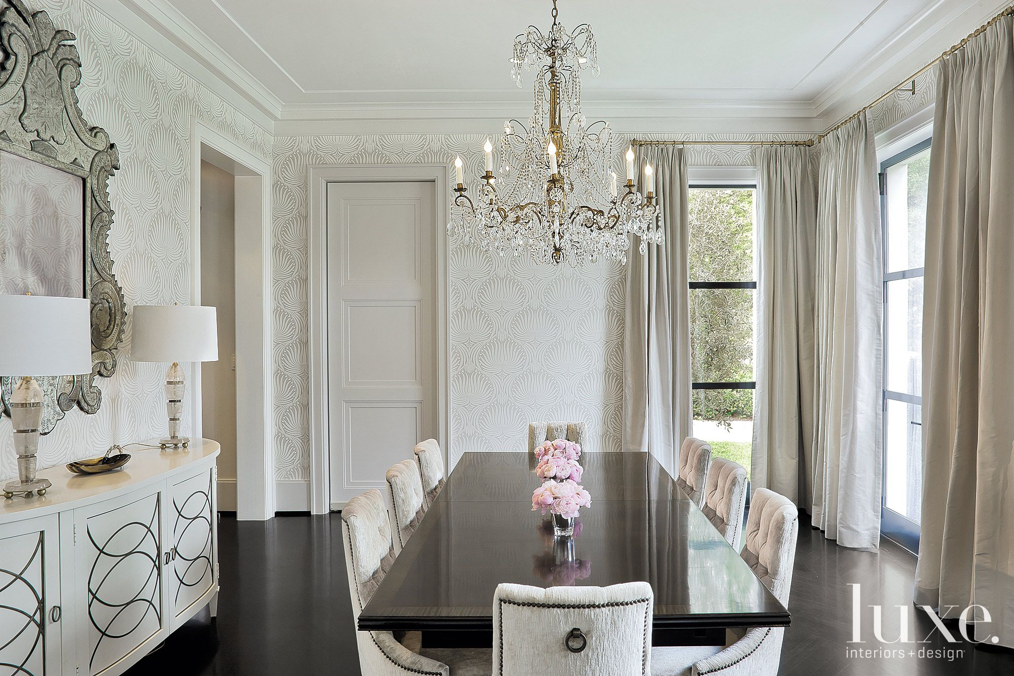 Regency-Style Traditional Dining Room