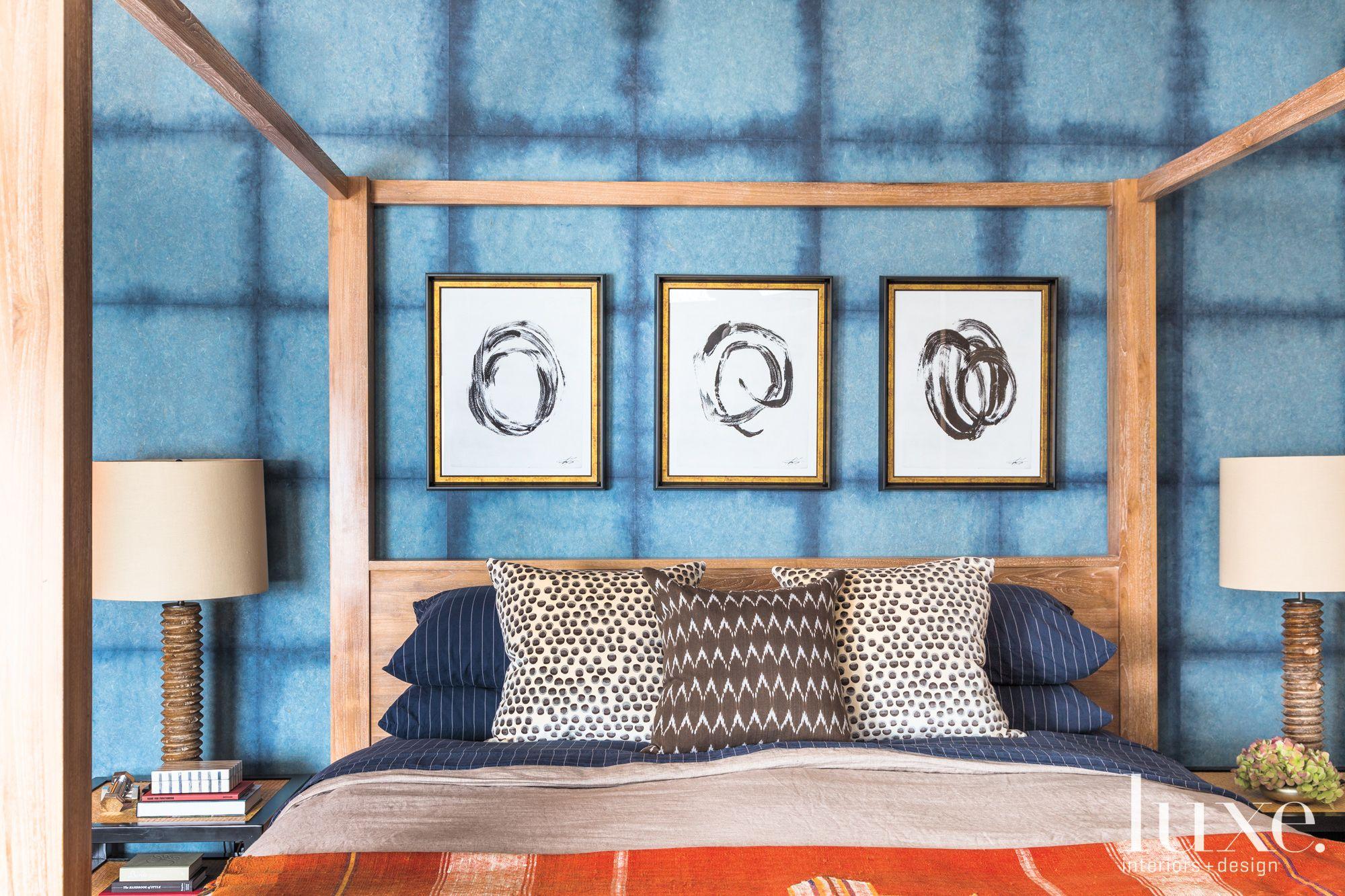 Modern Blue Master Bedroom Luxe Interiors Design