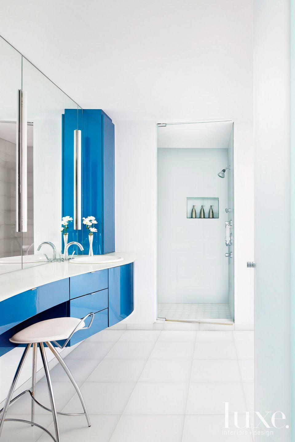 A Striking Blue Bathroom