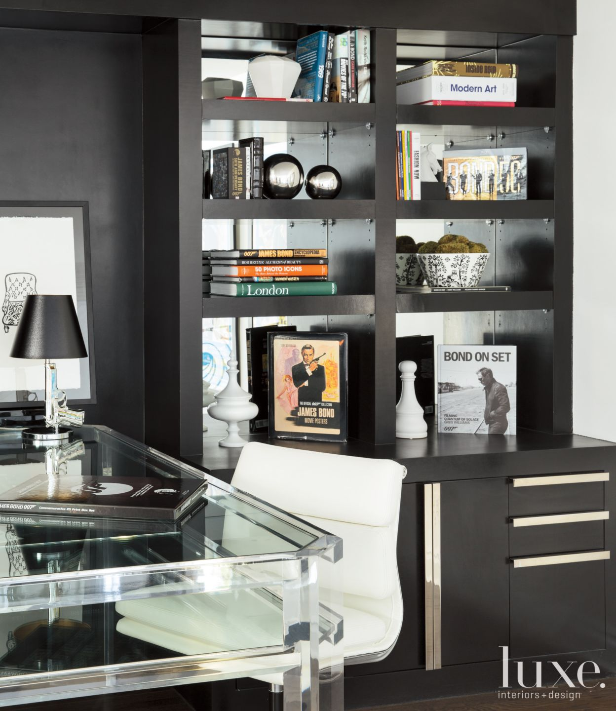 Modern Black Office Cabinetry