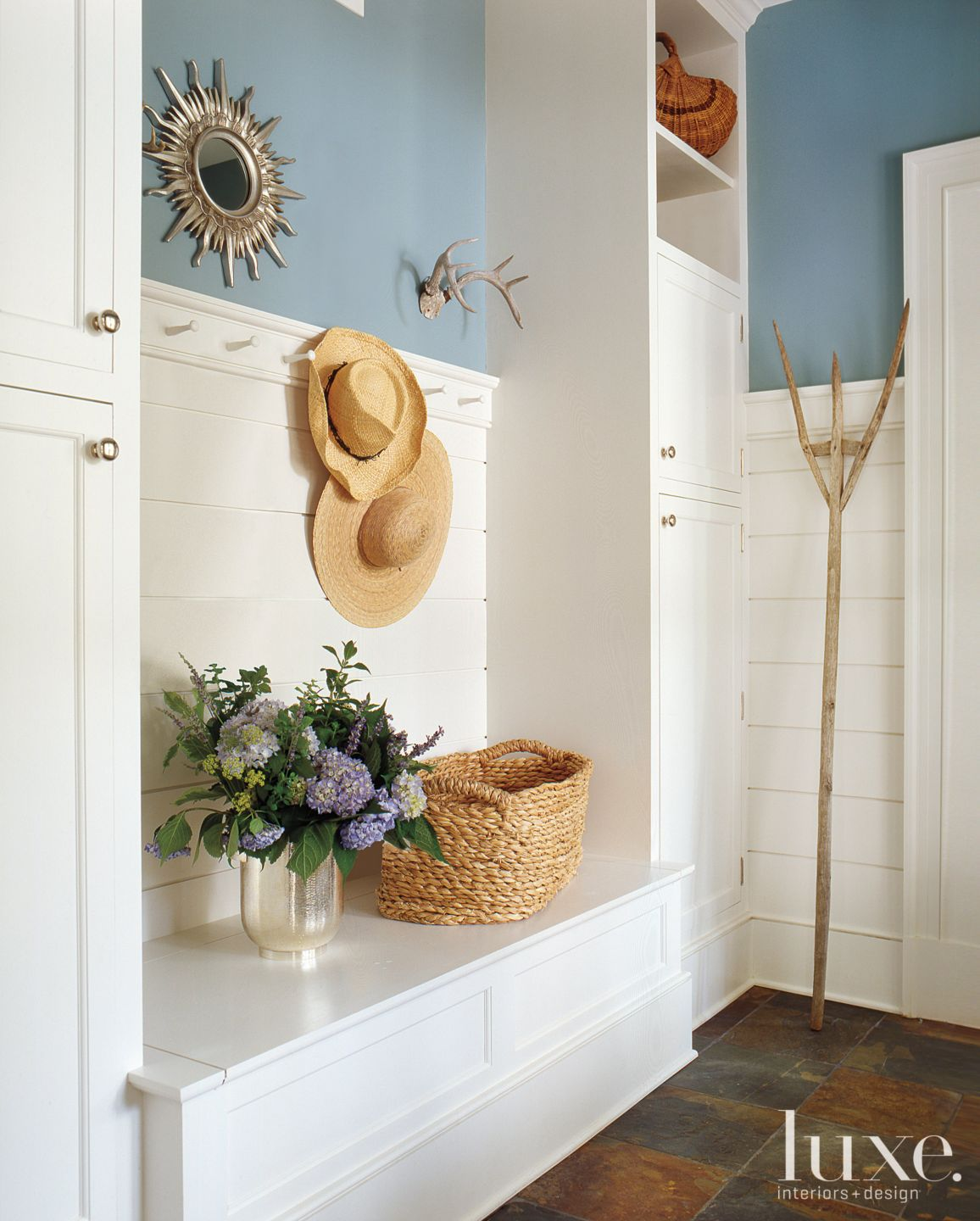 Country Blue Mudroom