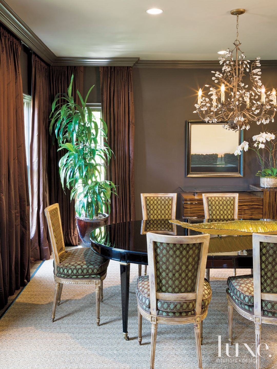 Eclectic Brown Dining Room