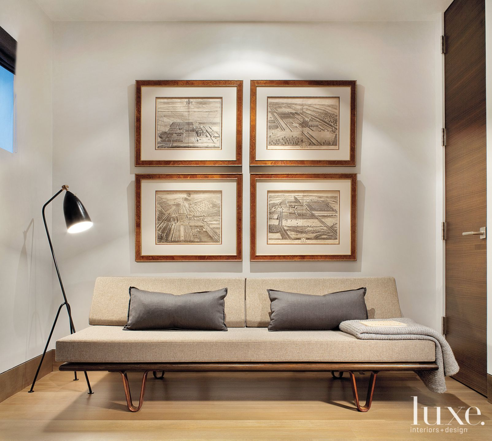 Modern Neutral Study with Minimalistic Daybed