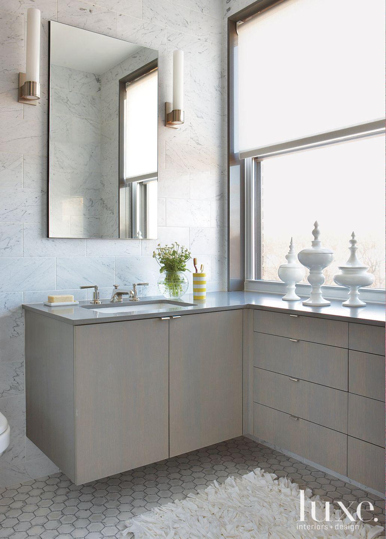 Modern Marble Master Bath