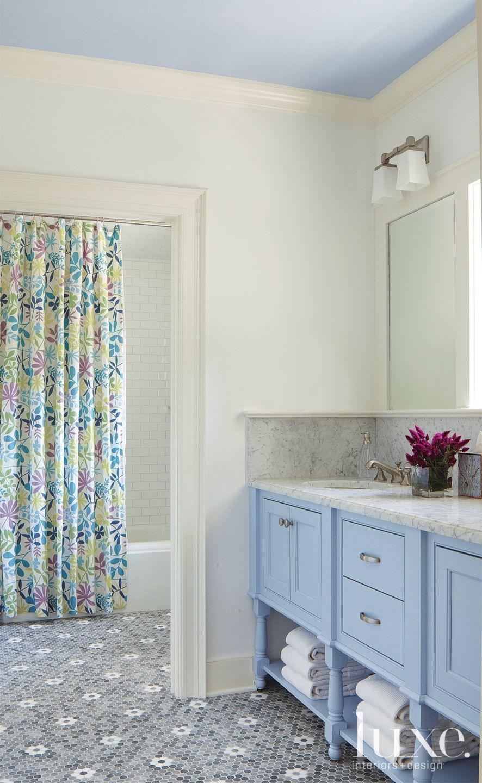 Pale Blue Master Bathroom