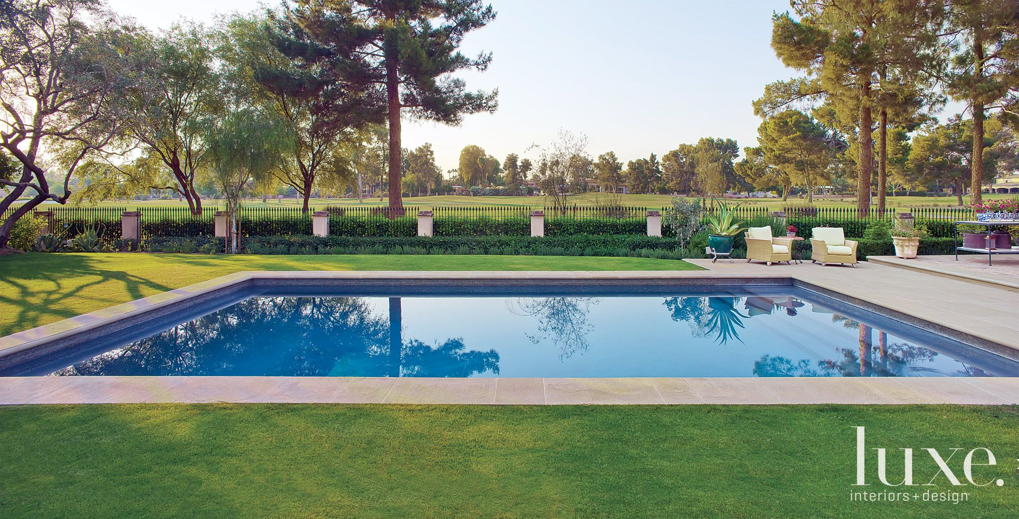 In-Ground Pool with Minimal Landscaping
