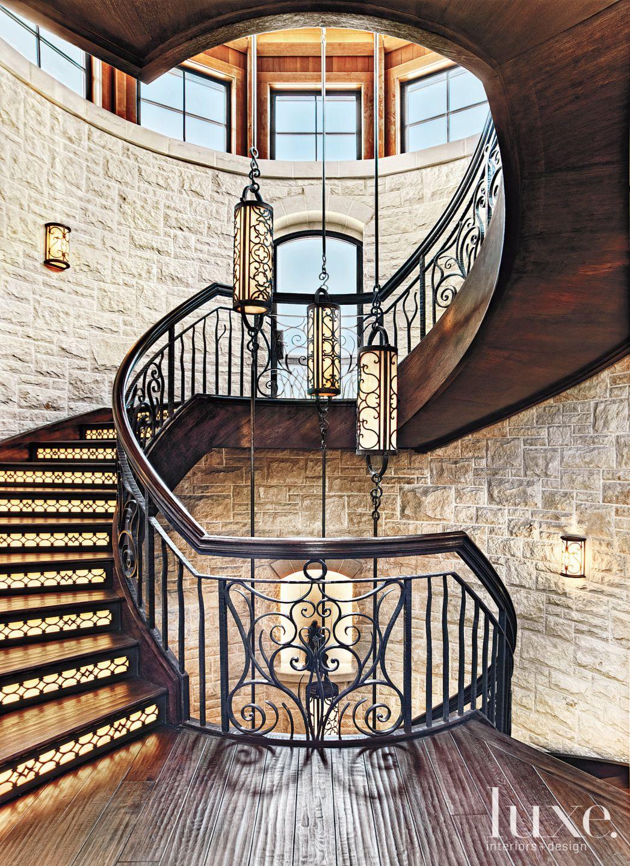 Mediterranean Limestone Stair Turret