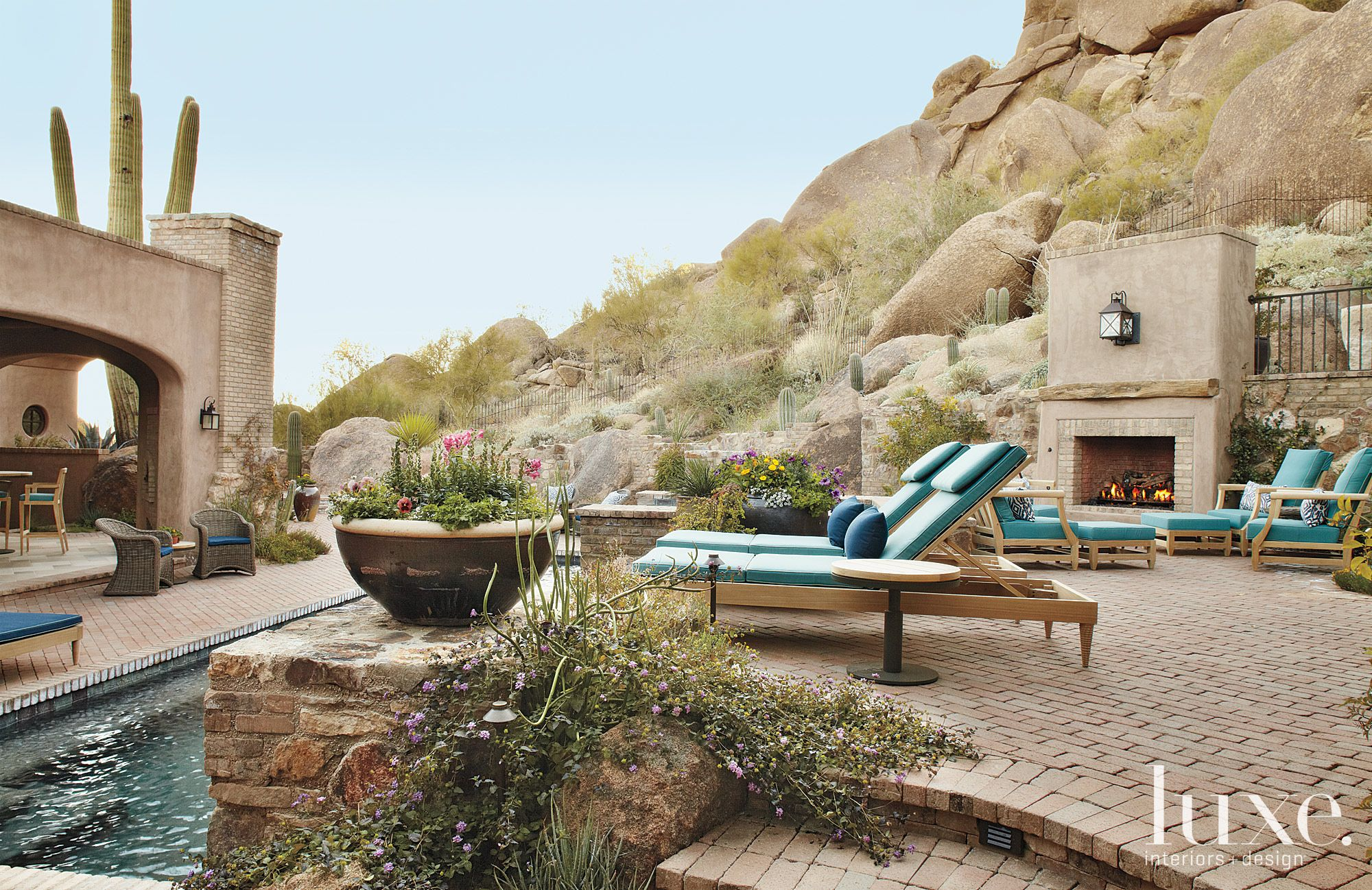 Stone Mountain Patio with Outdoor Fireplace