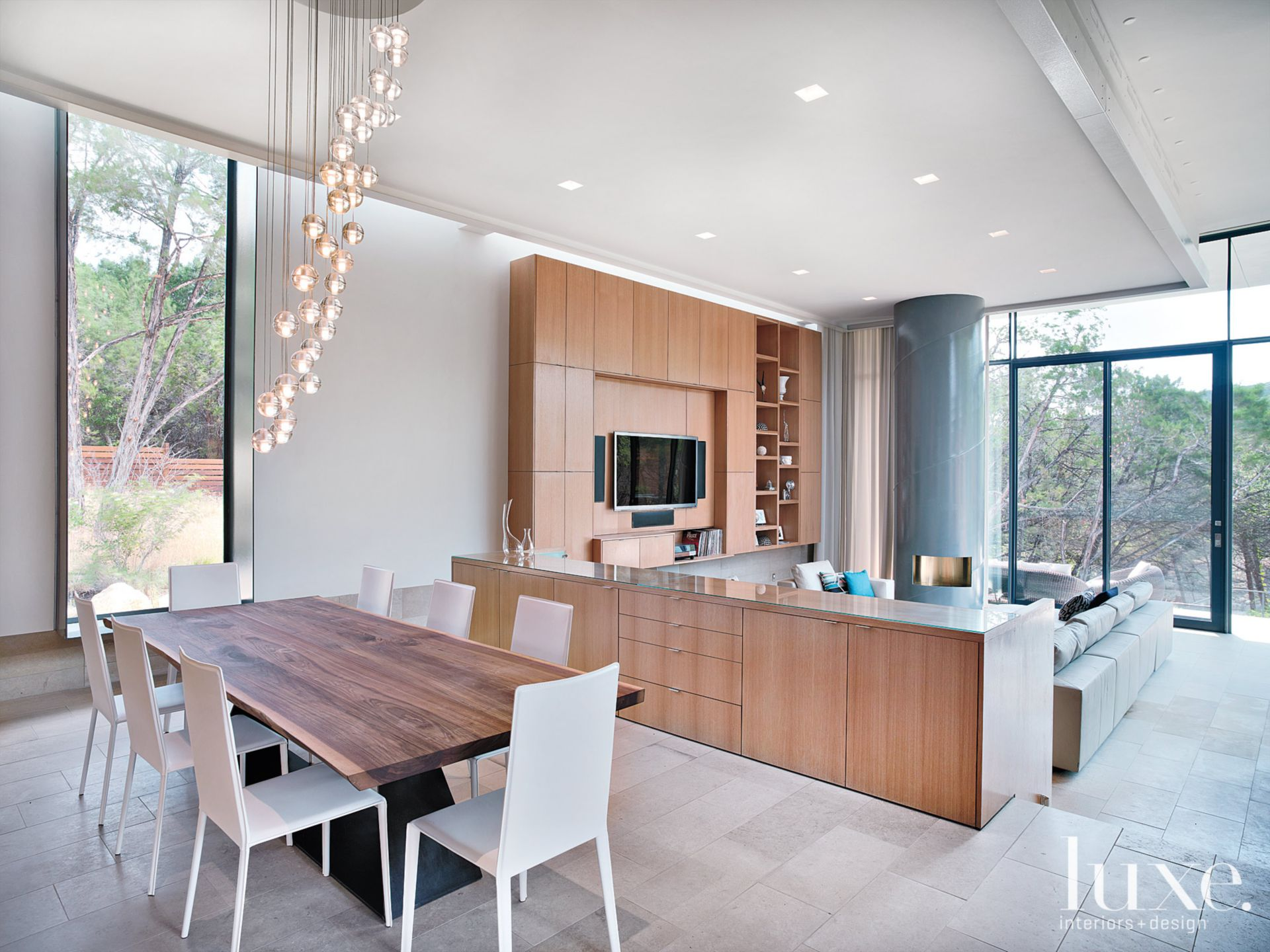 Neutral Contemporary Dining and Living Rooms