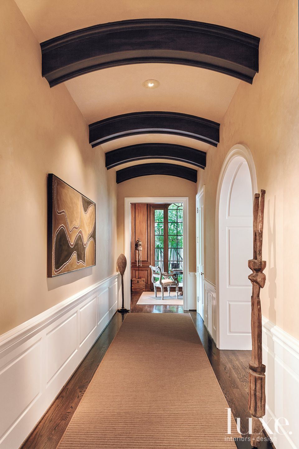 Transitional Arched Hallway
