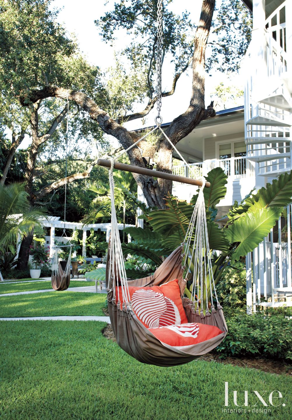 Transitional Neutral Exterior with Hammock