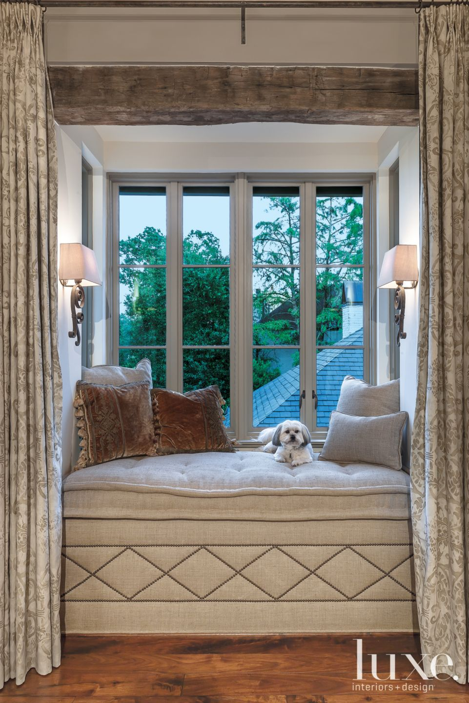 Traditional Master Bedroom Window Seat