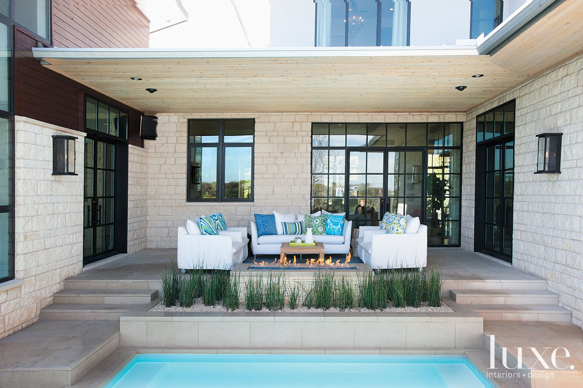 Modern Rear Patio with Pool