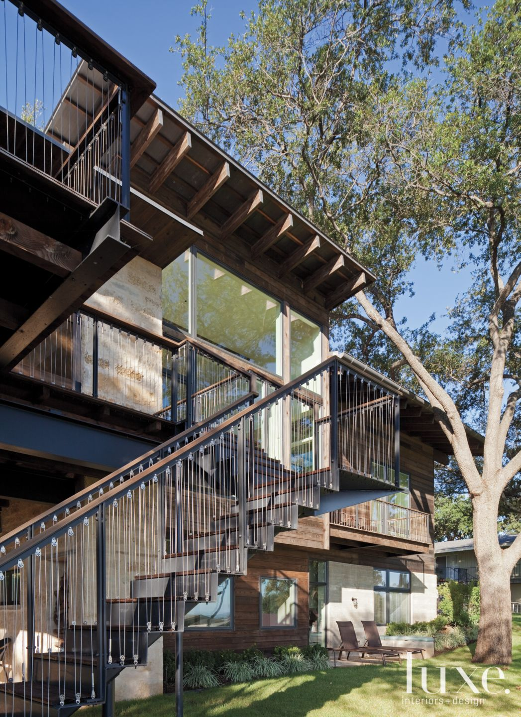 Contemporary Exterior Steel Stairs