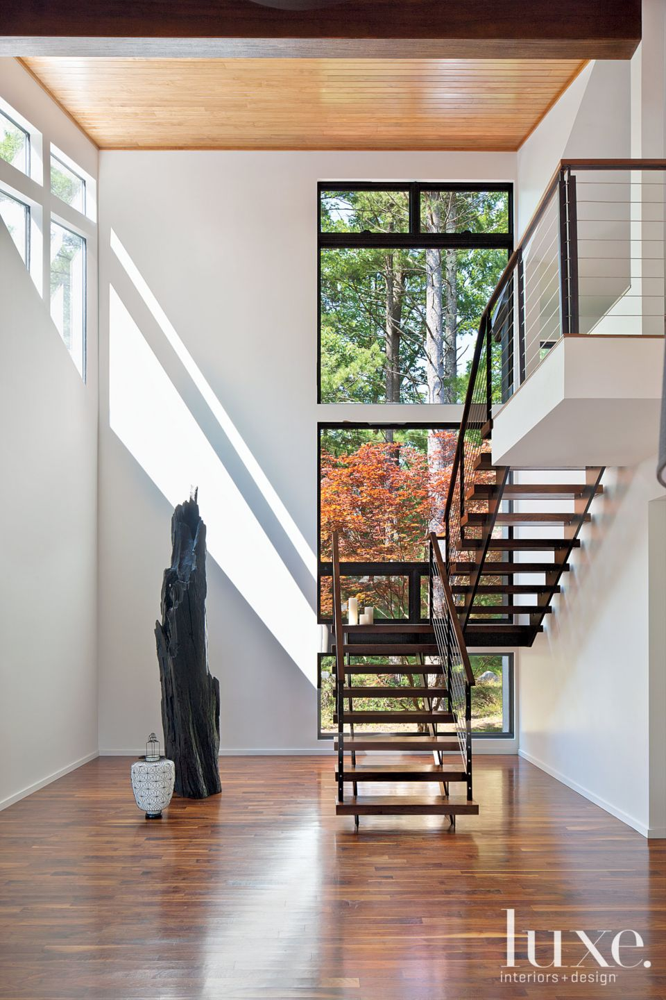 Walnut and Steel Staircase