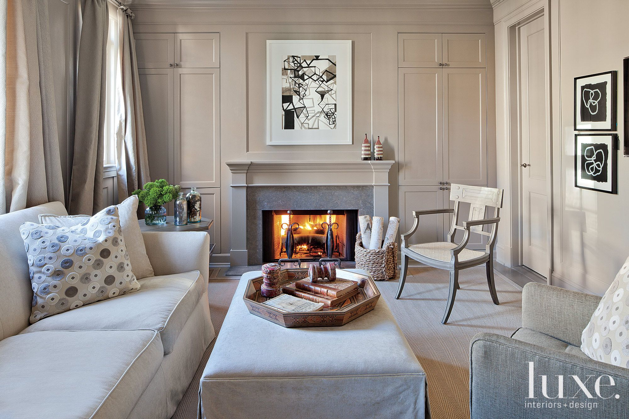 Transitional Neutral Sitting Area
