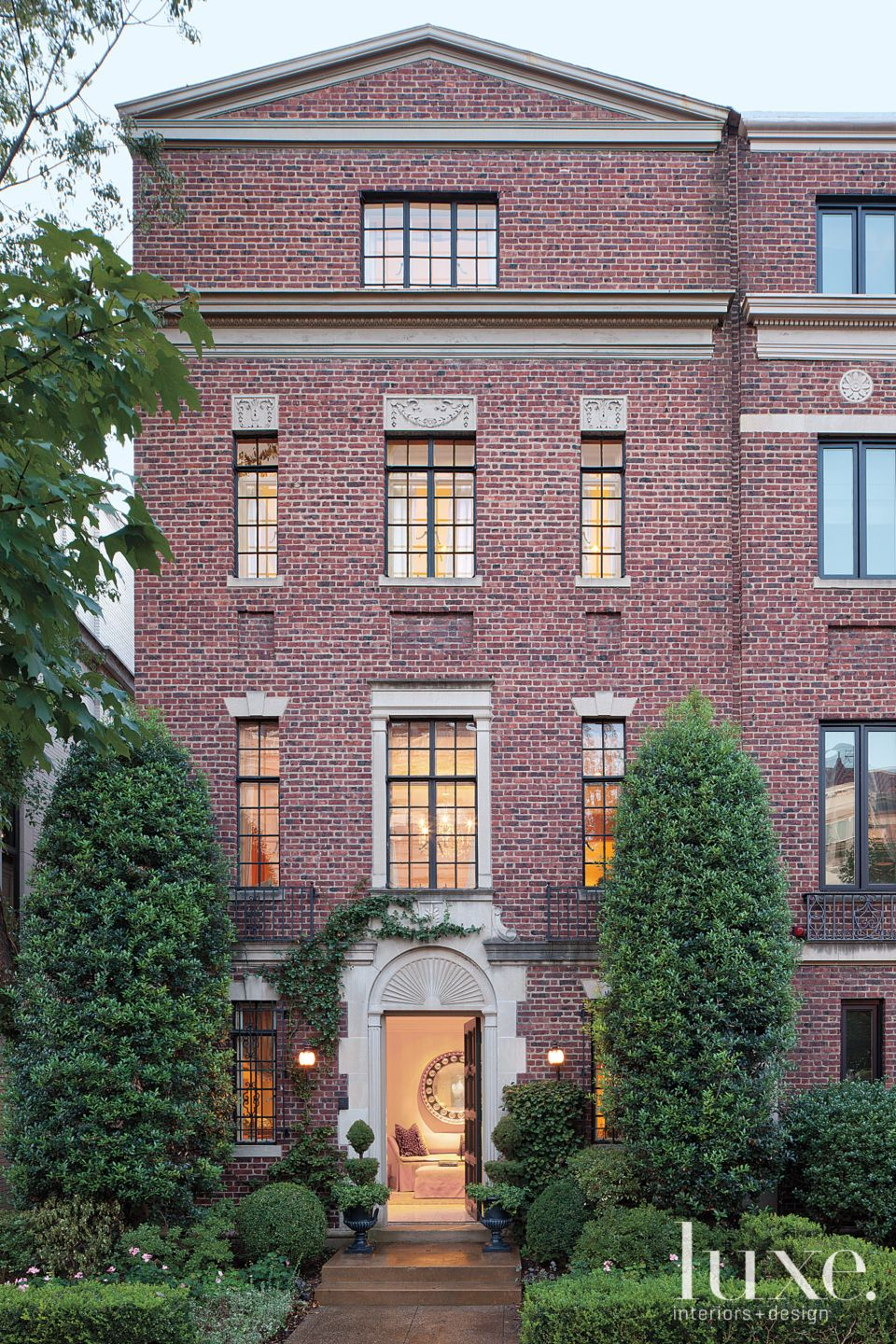 Traditional Brick Townhouse Exterior