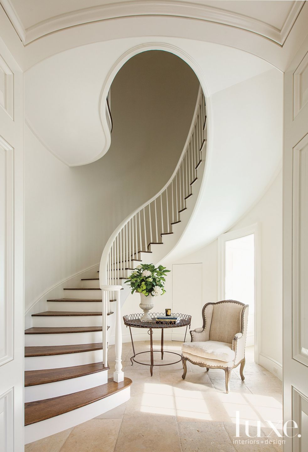 Traditional Country Spiral Staircase