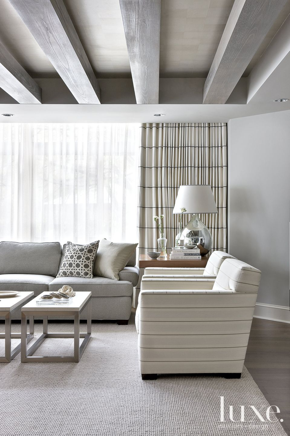 Contemporary Gray Living Room Vignette