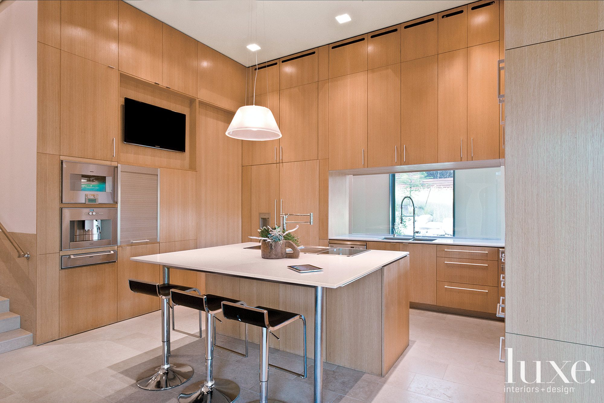 Contemporary Wood and Tile Kitchen