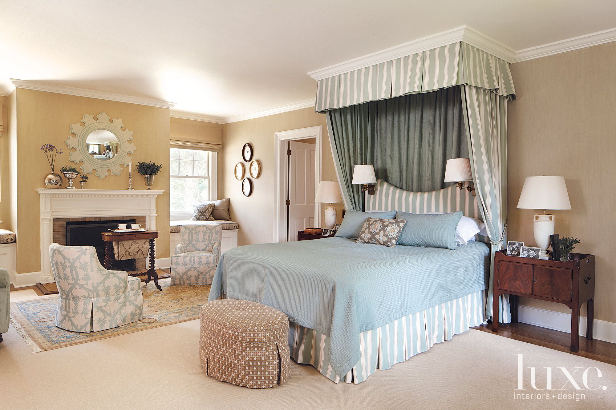 Traditional Master Bedroom with Canopy Bed