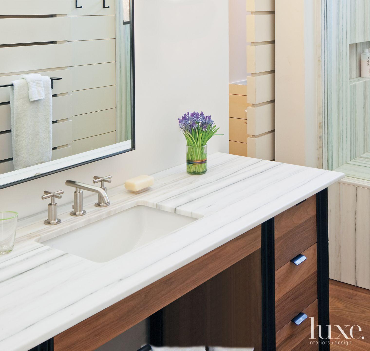 Contemporary Marble Master Bath