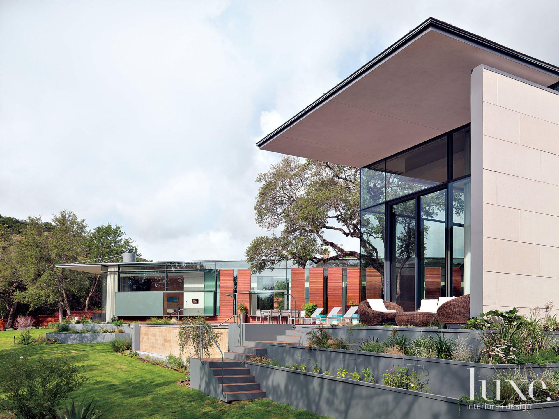 Contemporary Backyard and Patio