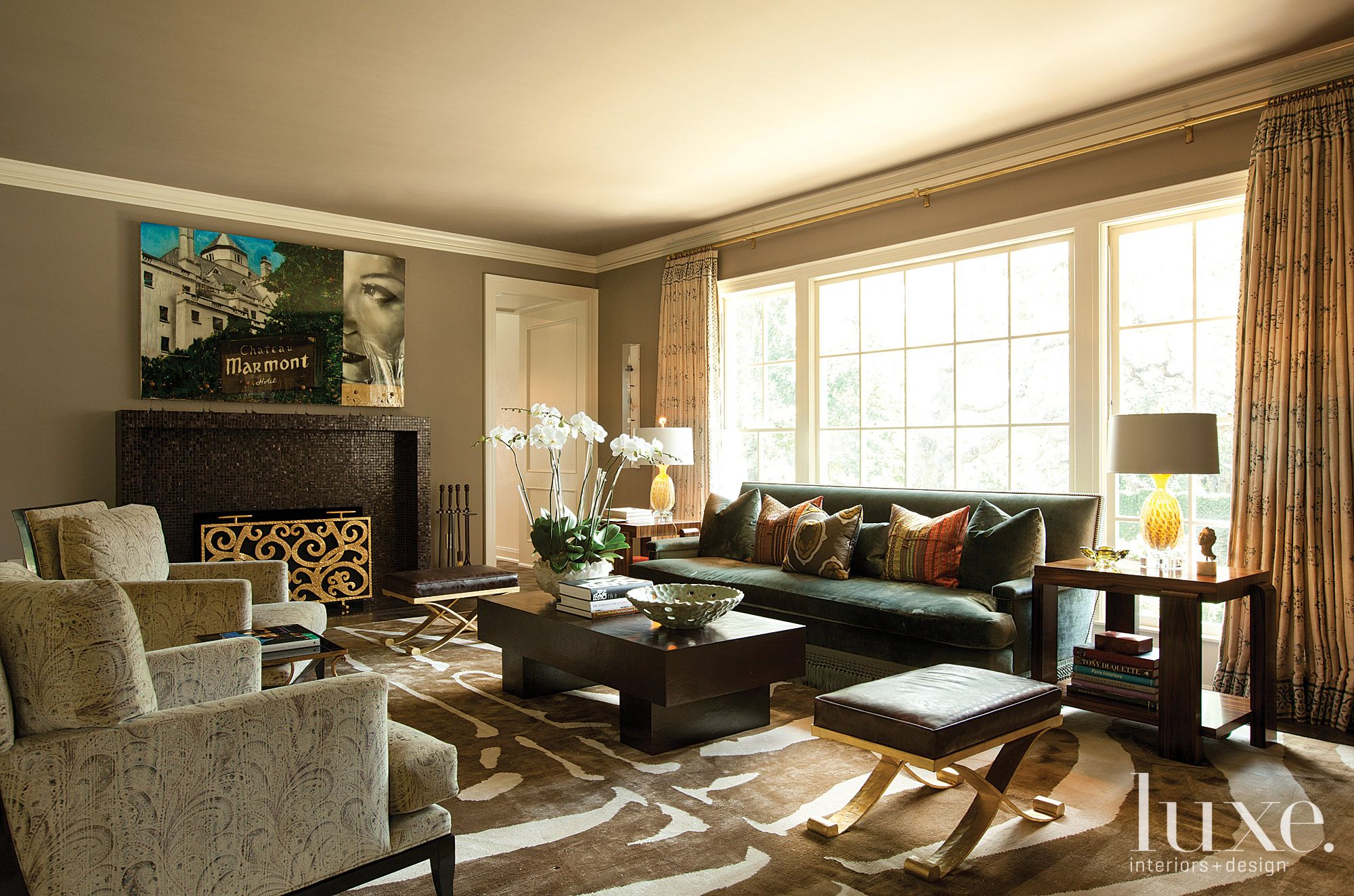 Restored Sitting Room with Eclectic Accents
