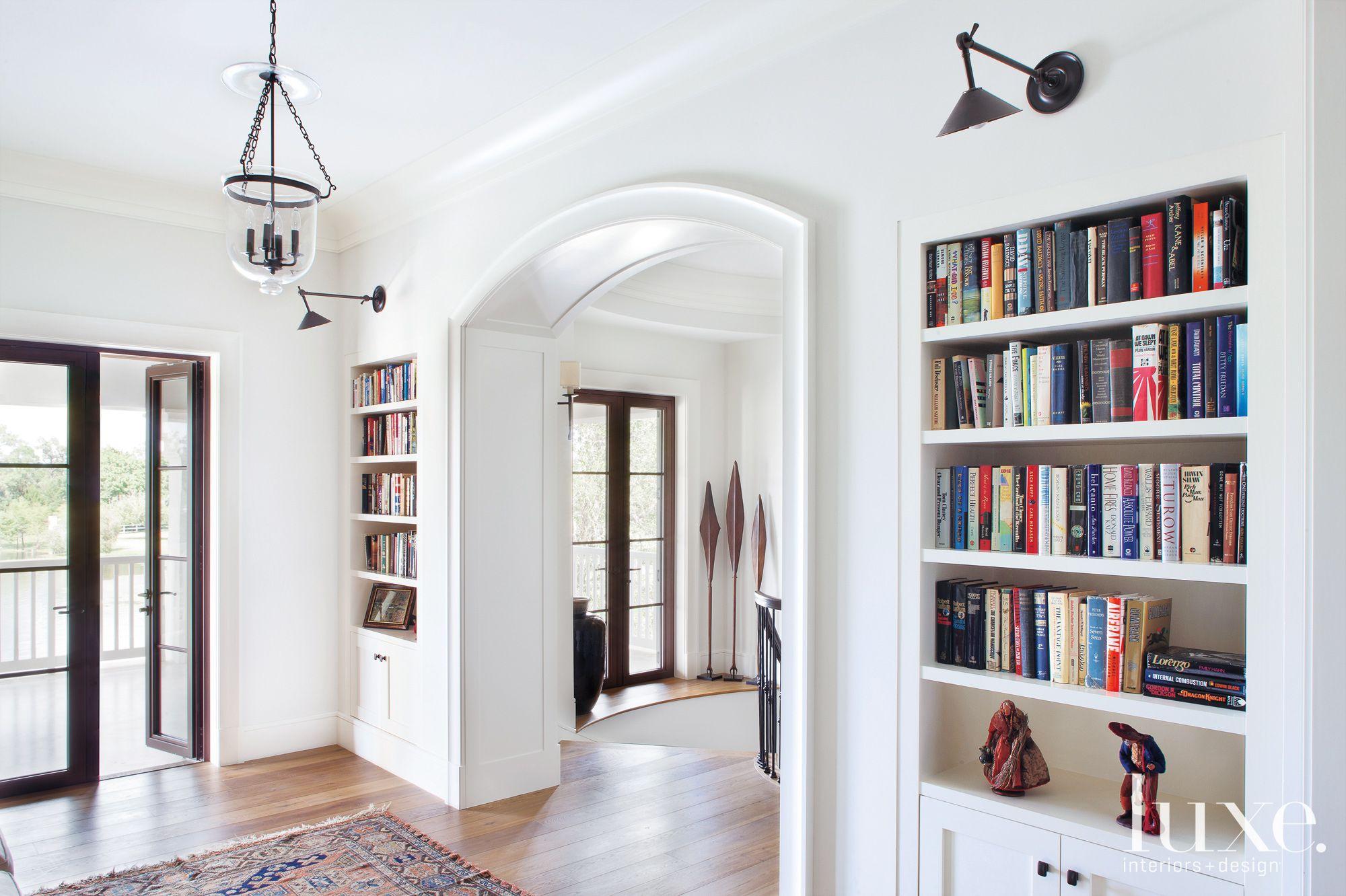 White Transitional Hallway