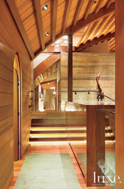 Mountain Neutral Entry with Cedar-and-Fir Ceiling