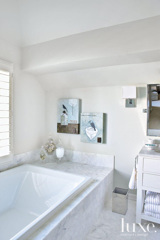 Soft Blue Contemporary Bathroom