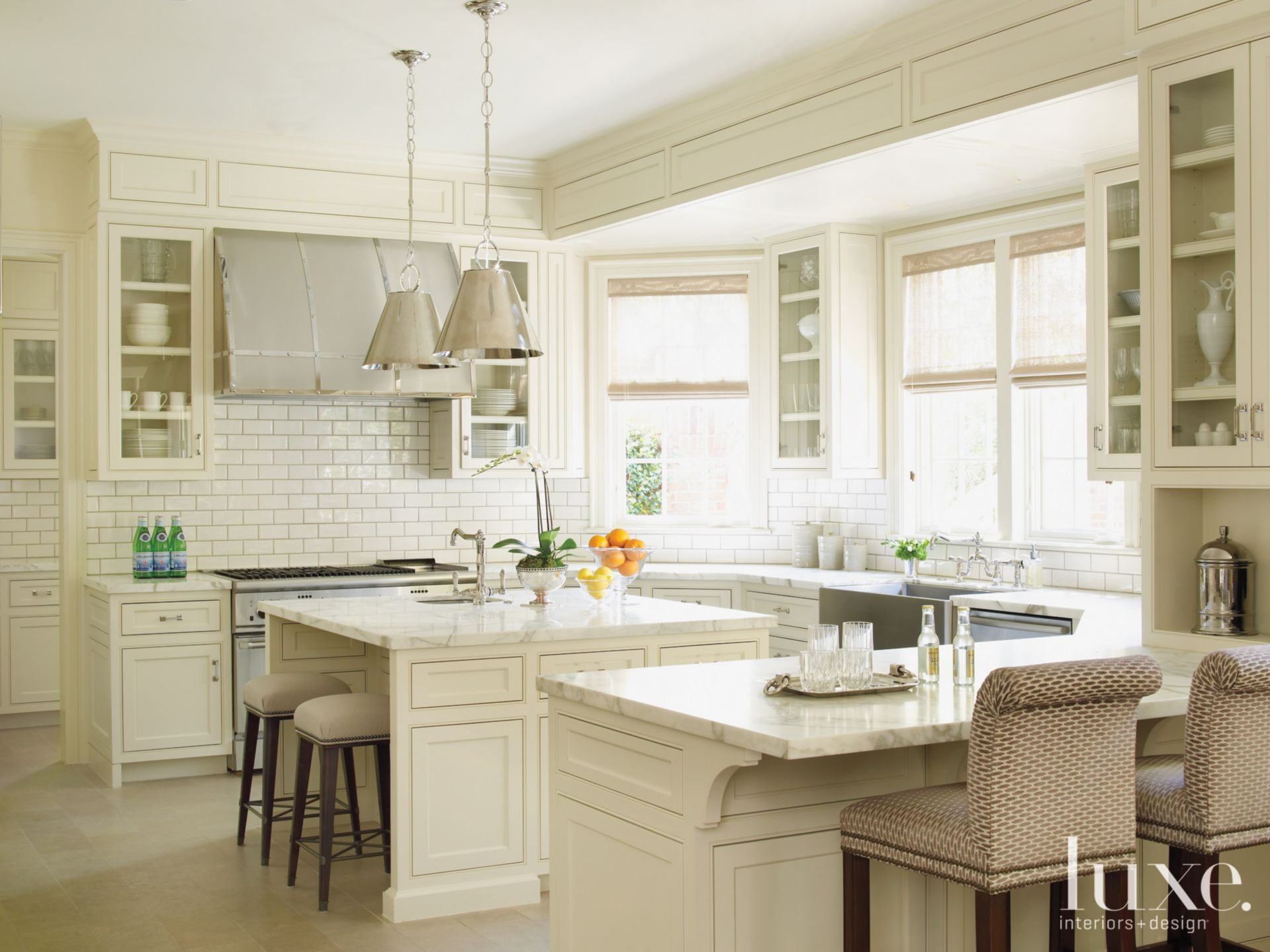 Traditional White Kitchen with Custom Cabinetry