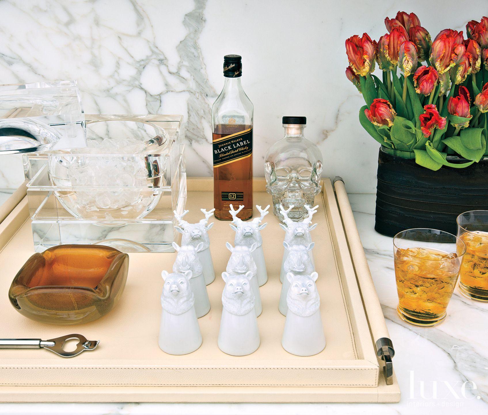 Modern Bar Set and Tray