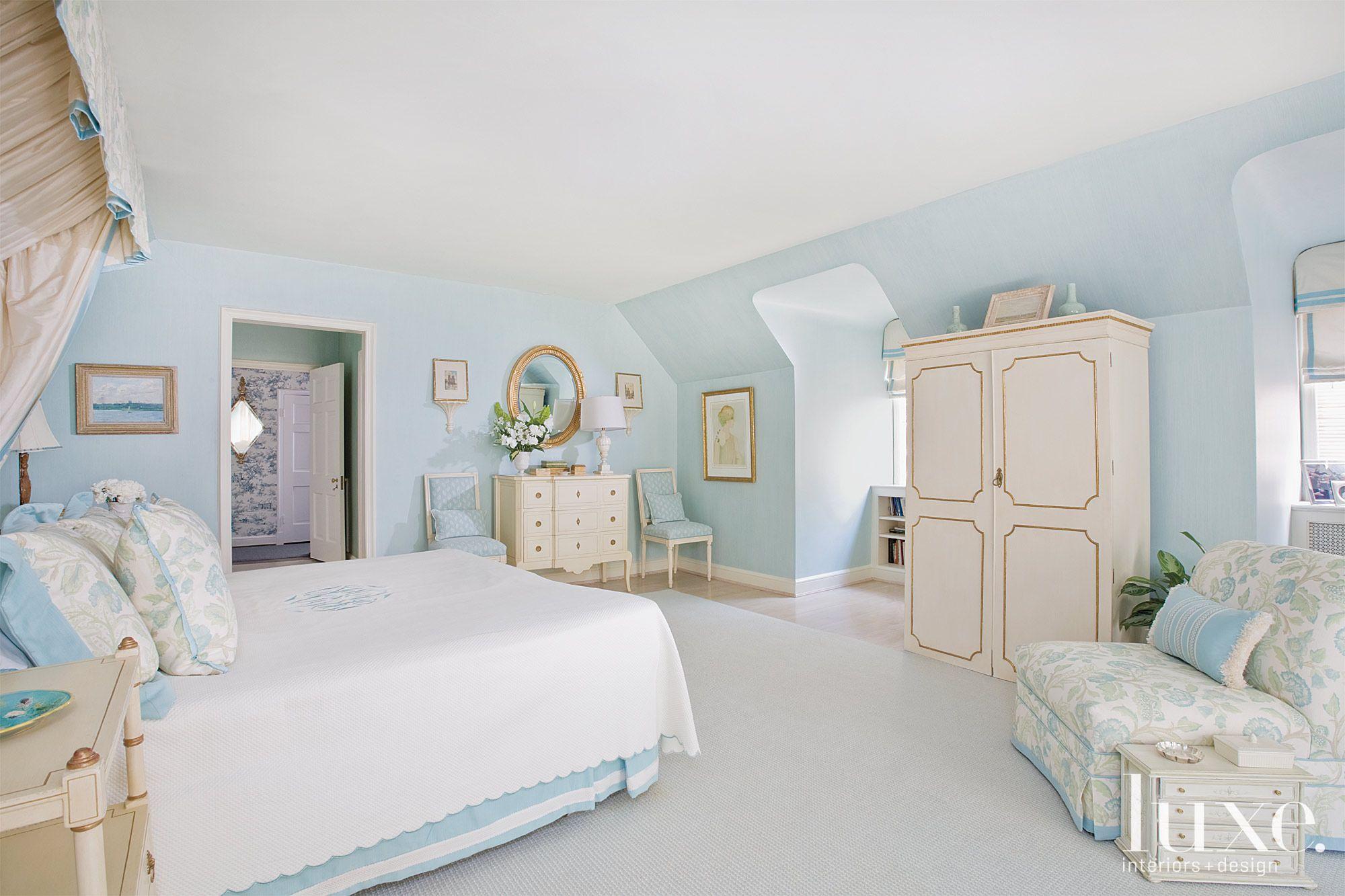 Blue Tradtional Master Bedroom