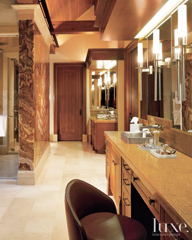 Mountain Neutral Bathroom with Onyx Wall