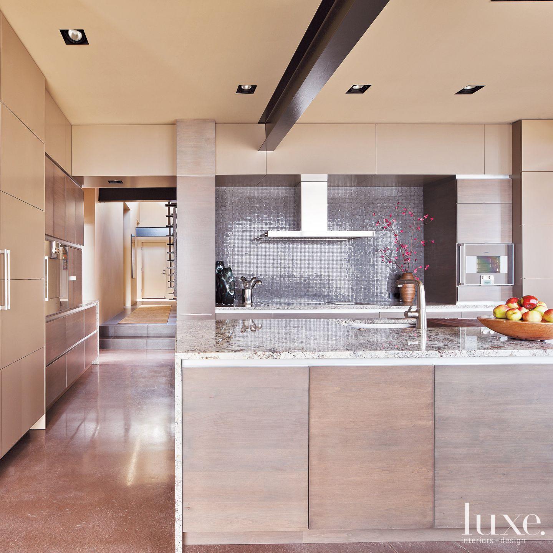 Modern Neutral Kitchen with White Granite Countertops