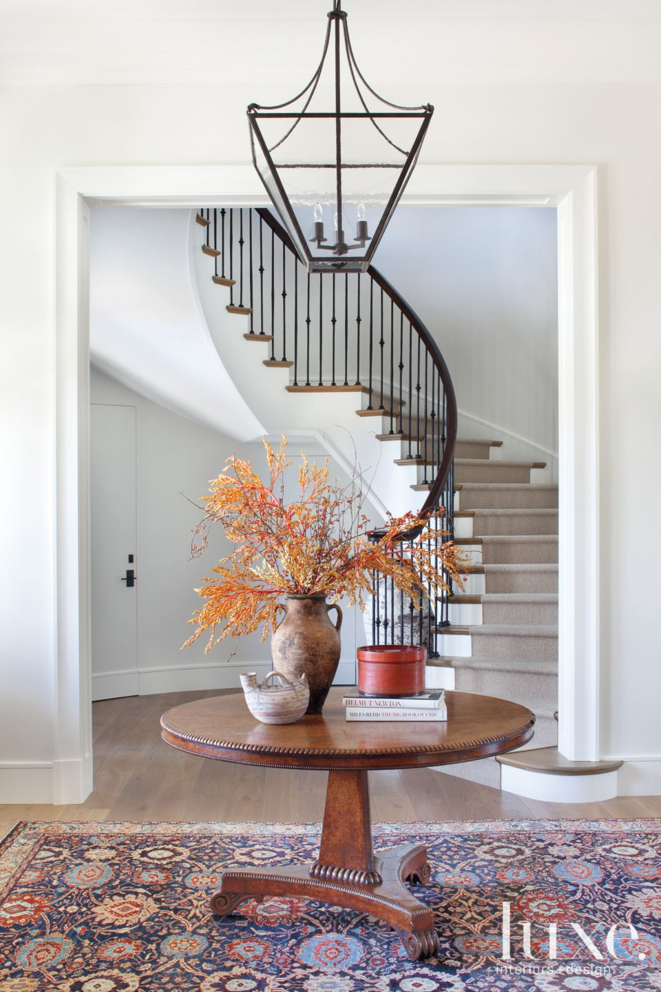 Transitional White Foyer