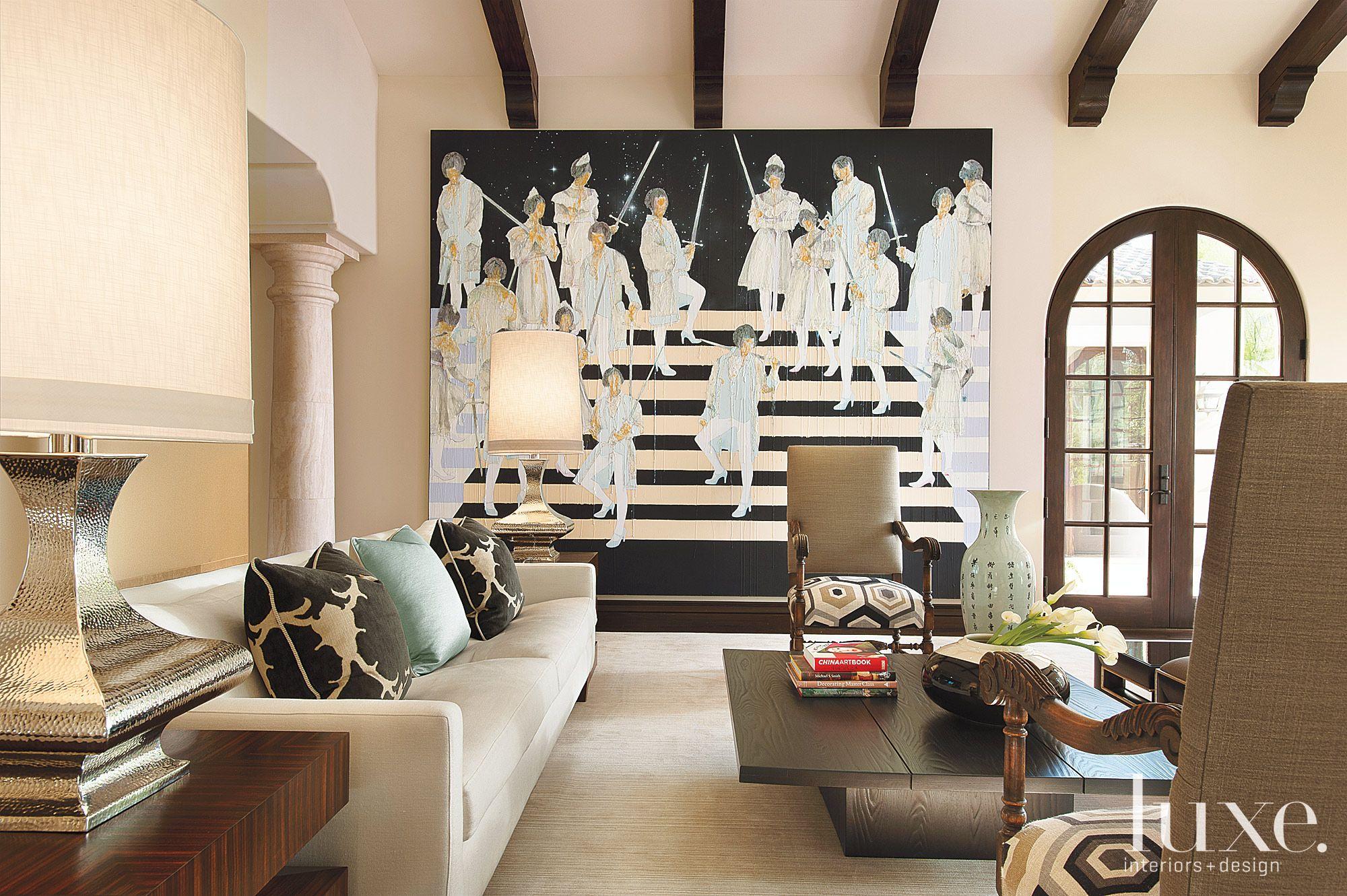 Black and White Contemporary Living Room Artwork